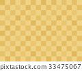金色 市松模様 和柄 33475067
