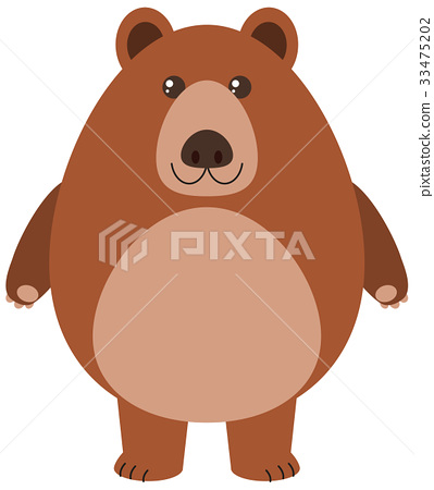 Grizzly bear on white background 33475202