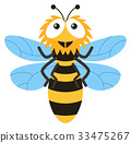 isolated bee cute 33475267