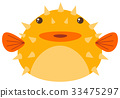 Puffer fish on white background 33475297