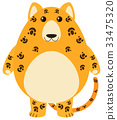 Leopard with happy face 33475320