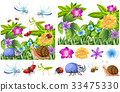 Many insects in flower garden 33475330