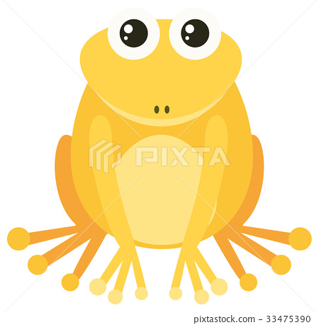 Yellow frog with happy face 33475390