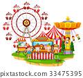 Happy children at circus 33475395