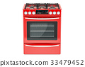 gas, stove, red 33479452