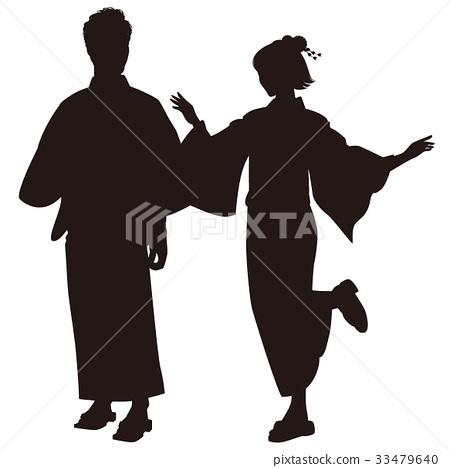 浴衣 好的节日舞蹈 夏祭 33479640