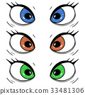 Eyes. Hand drawn cartoon sketch 33481306