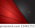 Red and black abstract material design background 33481753