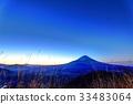 從Shoji湖和全景塔看到的不明的富士山 33483064