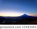 從Shoji湖和全景塔看到的不明的富士山 33483065
