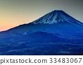 從Shoji湖和全景塔看到的不明的富士山 33483067