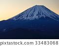 從Shoji湖和全景塔看到的不明的富士山 33483068