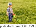 เด็กเล็ก,สนามหญ้า,บัวรดน้ำ 33483593