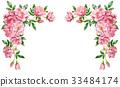 วัสดุกรอบดอกกุหลาบสีชมพู 33484174