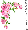 วัสดุกรอบดอกกุหลาบสีชมพู 33484179