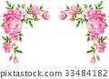 วัสดุกรอบดอกกุหลาบสีชมพู 33484182
