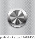 Round switch knob button on metallic non slip 33484455