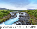 Bruarfoss turquoise waterfall, South Iceland 33485091