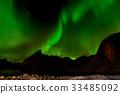 Aurora borealis or northern lights, Norway 33485092