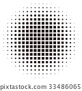 패턴, 흑백, 도트 33486065