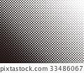 패턴, 흑백, 도트 33486067