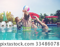 party, pool, vacation 33486078