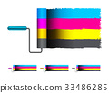 CMYK concept vector illustration with brushes 33486285