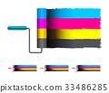 cmyk, paint, vector 33486285