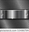 Metal perforated background with stainless steel 33486794