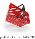 Empty shopping basket isolated on white background 33487090
