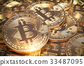 Bitcoins hepa. Golden virtual currency coins  33487095