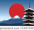 富士山 五重塔 堆 33487499