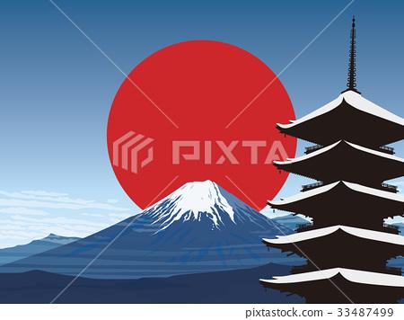 富士和五層寶塔 33487499