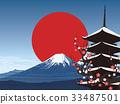 富士山 五層塔 五重塔 33487501