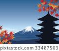 富士山 楓樹 紅楓 33487503