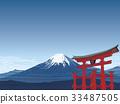 富士山 鸟居 鸟居门 33487505