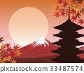 富士山 五重塔 楓樹 33487574