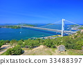 shimotsuiseto ohashi bridge, suspension bridge, washuzan 33488397