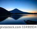 [靜岡縣]狸湖和富士山,黎明前 33490934