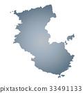 wakayama prefecture map, wakayama prefecture, map 33491133