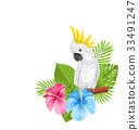 cockatoo flower bird 33491247