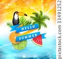 西瓜 水果 橙色 33491252