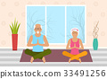 yoga, elderly, senior 33491256