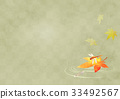 red dragonfly, killifish, maple 33492567