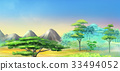 Landscape with Acacia Tree in Mountains 33494052