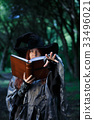 Photo of witch with magic book 33496021