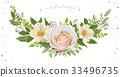 Flower wreath Bouquet vector design object element 33496735