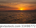 Vibrant tropical sunset at Bali indonesia 33496772