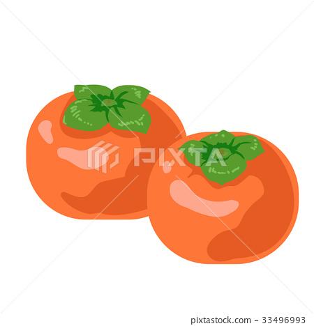 日本柿 柿子 甜柿 33496993