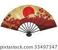日本扇子 紅富士 富士山 33497347